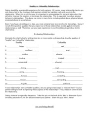 Healthy_vs._Unhealthy_Relationships Review Answers