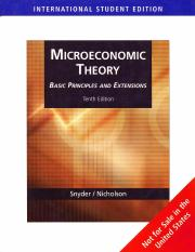 Nicholson - Microeconomic theory. Basic principles and extensions (10. ed)