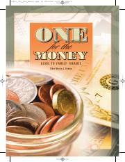One for the Money_Guide to Family Finance