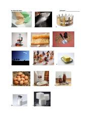 vocab pics of King Cake ingredients