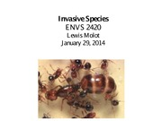 ENVS 2420 Lect 3 Invasive spp