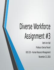 Diverse Workforce - Assignment #3.pptx