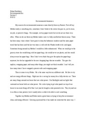 Environmental bio awereness paper