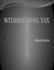 WITHHOLDING TAX PPT 2016 lecture