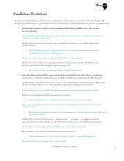 Printables Parallelism Worksheet parallelism 2 pdf worksheet a sentence is called parallel when