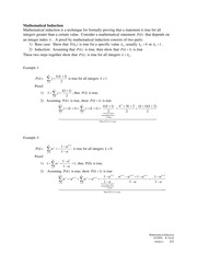2011-10-26 Mathematical Induction