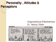 Chapter 3 Perceptions and Attitudes