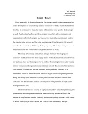 Marketing 400 exam 2 essay