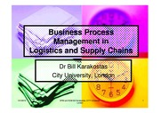 Business Process Management in Supply Chains