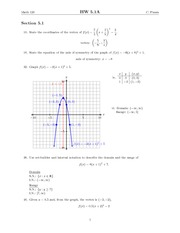 Chapter 5 Homework Solutions