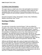 U.S. Politics_ Voter Participation Research Paper Starter - eNotes