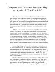 Business Strategy Essay Documentdocx  B Compare And Contrast Essay On Play Vs Movie Ofthe  Crucible Over The Years Many Movies Have Been Made Based Upon Famous Plays  Or Books Essay On Pollution In English also Thesis Statement For An Essay Documentdocx  B Compare And Contrast Essay On Play Vs Movie Ofthe  Mental Health Essays