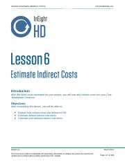 Lesson #6 Estimate indrect Costs.pptx