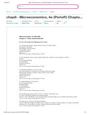 chap6 - Microeconomics, 4e (Perloff) Chapter 6 Firms and Production 6