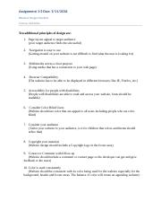 Comp107 Victoria McClellan Assignment 1-2 Effective Design Checklist