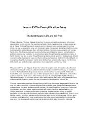 Lesson #5 The Exemplification Essay.docx