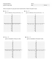 sketching graphs of transformations homework