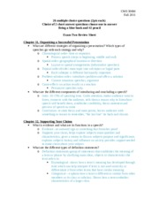 Exam Two Review Sheet