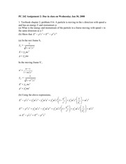 PC242 Assignment 2 Solutions