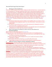 Abnormal Psychology Study Guide Exam I.docx