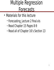 Forecasting_Lecture_2-Multiple Regression Forecasting final.pptx