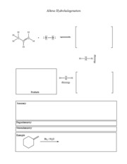 Hydrohalogenation
