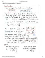 Linear Momentum Notes