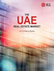 JLL Real Estate Market Overview - UAE - 2016 Year In Review.pdf