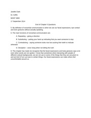 End of Chapter Questions 5