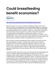 Could breastfeeding benefit economies.docx