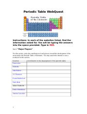 Families of the periodic table webquest answers families of the 6 pages periodictablewebquest urtaz Images