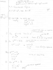 Notes on Solving Exponential and Logarithmic Equations