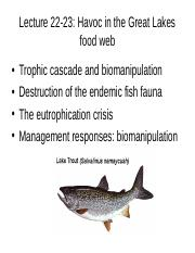 Lect 22-23 Great Lakes Food Webs_for class.ppt