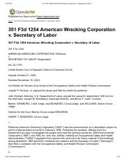 American Wrecking Corp. V. Secretary of Labor.pdf