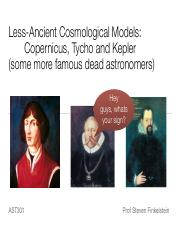 Lecture 10 - Copernicus and Kepler