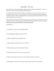 Review Quiz - Ch. 9,10,11