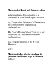 Mathproof Lecture