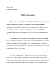 assignment 7 elo summaries