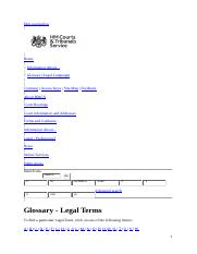 glossary legal terms