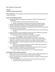 BSC 300 Exam 2 Study Guide