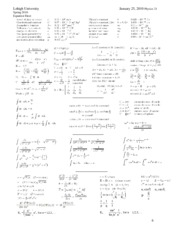 Physics 21 2010S Equation Sheet