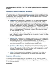 en1320 prewriting a review Creating outlines by kathleen lietzau (printable version here) what is an outline an outline is a way of formally arranging and developing ideas.