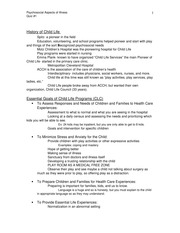 Child Life Study Guide QUIZ 1