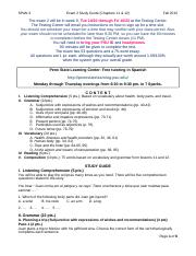 Sp3_Exam2_StudyGuide_Fa15_WithoutAnswers
