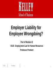 Liability for Employee Wrongdoing 2013