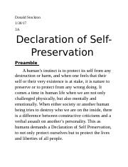 Declaration of Self donald s.docx
