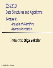 Lecture 2A - Algorithm analysis