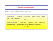 Study Guide on Linear Algebra Direct Methods for Solving Linear Systems