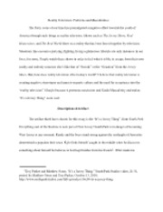 Generative Criticism Essay Example