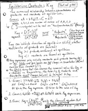 Equilibrium constants notes